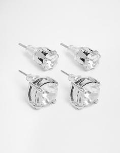 Набор серег с кристаллами ASOS - Серебряный