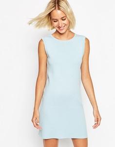 Структурированное вязаное платье с цепочками ASOS - Синий