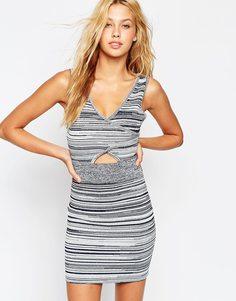 Структурированное трикотажное платье ASOS - Темно-синий