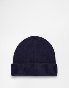 Темно-синяя рыбацкая шапка-бини ASOS - Темно-синий