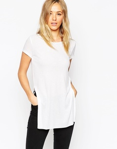 ASOS Longline Top with Side Splits - Белый