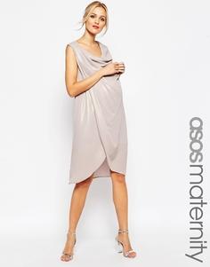 Платье-футляр для беременных с драпировкой ASOS Maternity