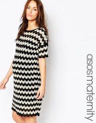Трикотажное платье для беременных ASOS Maternity - Мульти