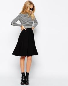 Расклешенная юбка миди ASOS - Черный