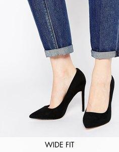 Туфли для широкой стопы на каблуке с острым носком ASOS PLAYFUL