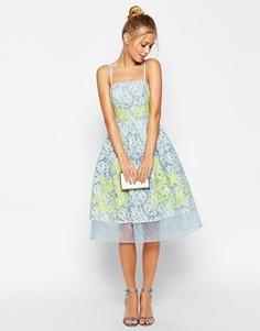 Платье для выпускного с отделкой кружевом и аппликацией ASOS Salon Pre
