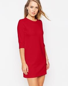 Цельнокройное платье из ткани понте с рукавами 3/4 ASOS - Черный