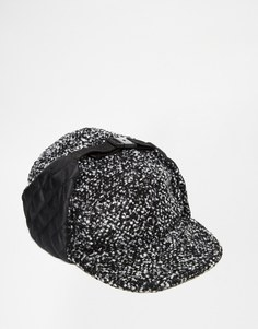 ASOS Snapback Trapper In Grey With Nep - Черный