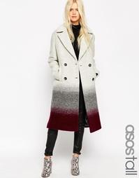 Oversize-пальто с эффектом омбре ASOS TALL - Тень