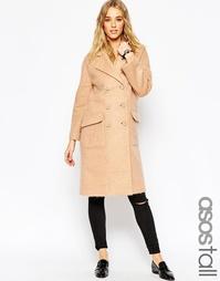 Пальто-кокон ASOS TALL - Кэмел