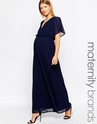 Платье макси с рукавами-кимоно для беременных Club L - Темно-синий