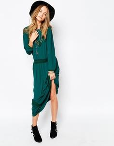 Зеленое платье макси Gat Rimon Jalie - Зеленый