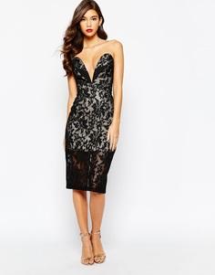 Кружевное платье‑бандо Jarlo Astrid - Черный