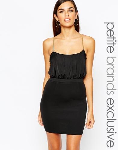 Облегающее платье с перекрестными цепочками сзади Lipstick Boutique Pe
