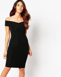 Платье с открытыми плечами Lipstick Boutique Ava - Black rib