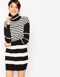 Платье-джемпер с отворачивающимся воротником Love Moschino - Черный