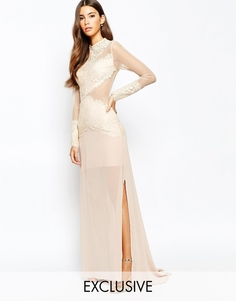 Платье макси с кружевной отделкой Love Triangle Sneak A Peek