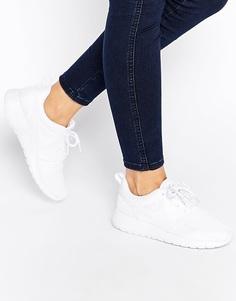 Белые кроссовки Nike Roshe Run - Белый