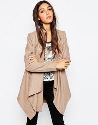 Пальто с каскадной драпировкой Religion - Серо-коричневый
