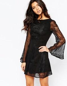 Черное кружевное платье Stone Cold Fox Duboce - Черный