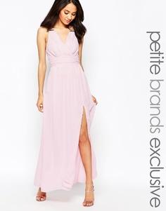Платье макси с запахом спереди True Decadence Petite - Blush