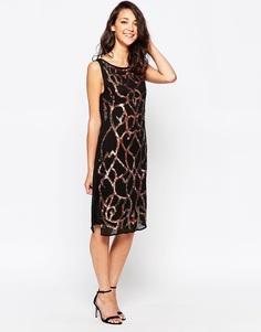 Цельнокройное платье с пайетками True Decadence - Swrl sequin shft drs