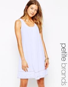 Платье с вышивкой по подолу Vero Moda Petite - Фиолетовый