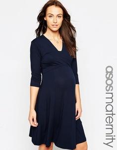 Платье мини для беременных с V‑образным вырезом ASOS Maternity