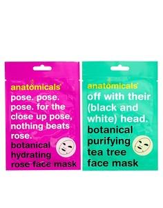 Тканевая маска для лица с растительными экстрактами Anatomicals Mask Y