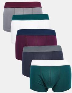 Комплект из 5 пар хипстеров яркой расцветки ASOS СКИДКА 28% - Мульти