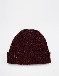 Бордовая шапка-бини с вкраплениями ASOS - Burgundy