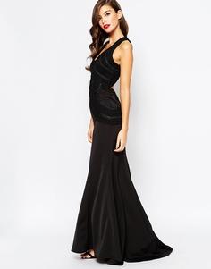 Платье макси с открытой спинкой Jarlo - Черный
