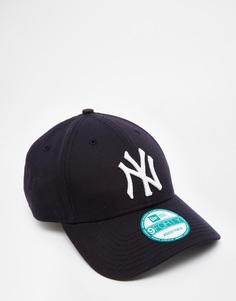 Кепка с регулируемым ремешком New Era 9Forty NY - Темно-синий