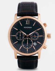 Часы с кожаным ремешком Sekonda 3406 - Коричневый