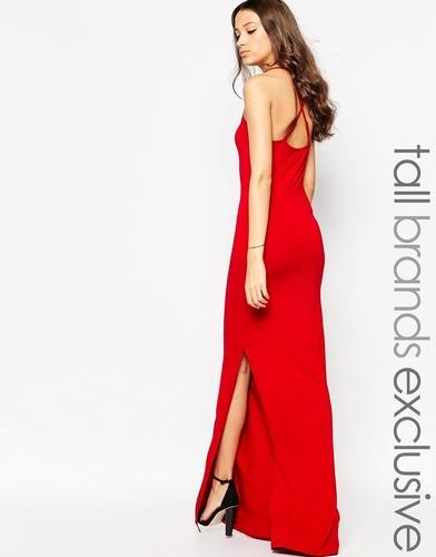 Платье макси с перекрестной спинкой TTYA - Красный