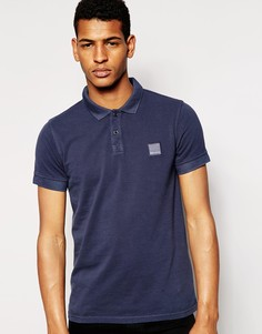 BOSS Orange Polo Shirt with Logo In Blue - Темно-синий
