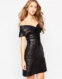 Бандажное платье с широким вырезом Glamorous - Black bandage