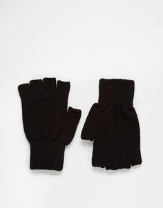 ASOS Fingerless Gloves In Black - Черный