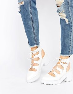 Туфли на каблуке ASOS ON THE TOWN - Белый