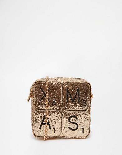 Рождественская сумка через плечо эксклюзивно для Skinnydip - Золотой