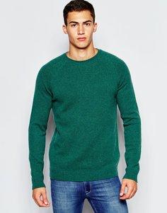 Джемпер из овечьей шерсти с круглым вырезом ASOS - Зеленый