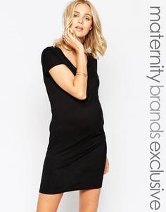 Облегающее платье для беременных Mamalicious - Черный Mama.Licious