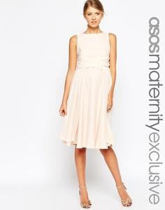 Короткое приталенное платье для беременных с запахом ASOS Maternity
