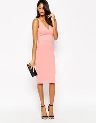 Платье-футляр миди в стиле 50-х ASOS - Розовый