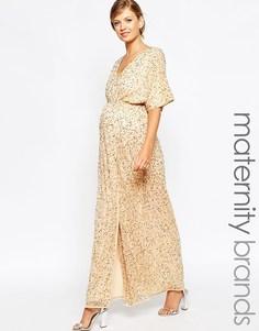 Платье-кимоно макси для беременных с пайетками ASOS Maternity