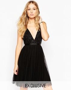 Платье с юбкой из тюля Needle & Thread - Черный
