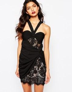 Черное платье с запахом The Jetset Diaries Fantasia - Черный