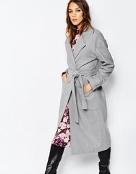 Пальто-халат с поясом Neon Rose - Серый