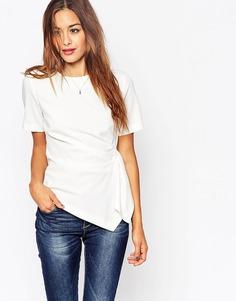 Креповая футболка ASOS Origami - Слоновая кость