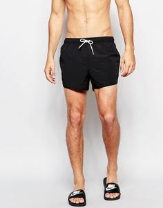 Короткие шорты для плавания черного оттенка ASOS - Черный
